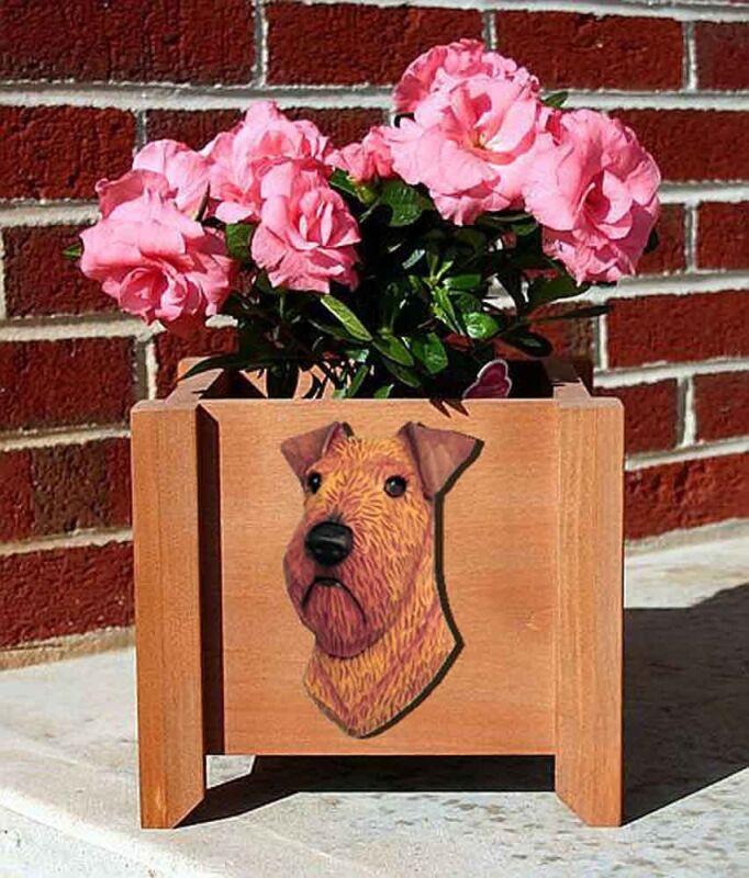 Irish Terrier Planter Flower Pot