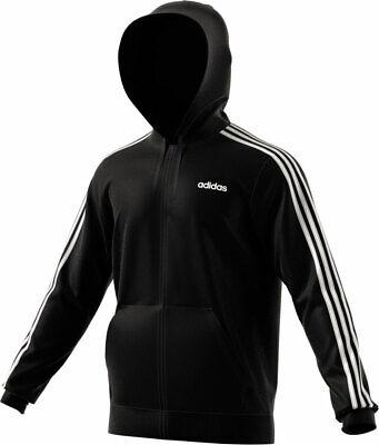 adidas Essentials 3 Stripes Fullzip Fleece Hoodie Herren Schwarz Stripe Zip Fleece