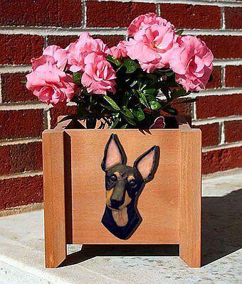 Manchester Terrier Planter Flower Pot