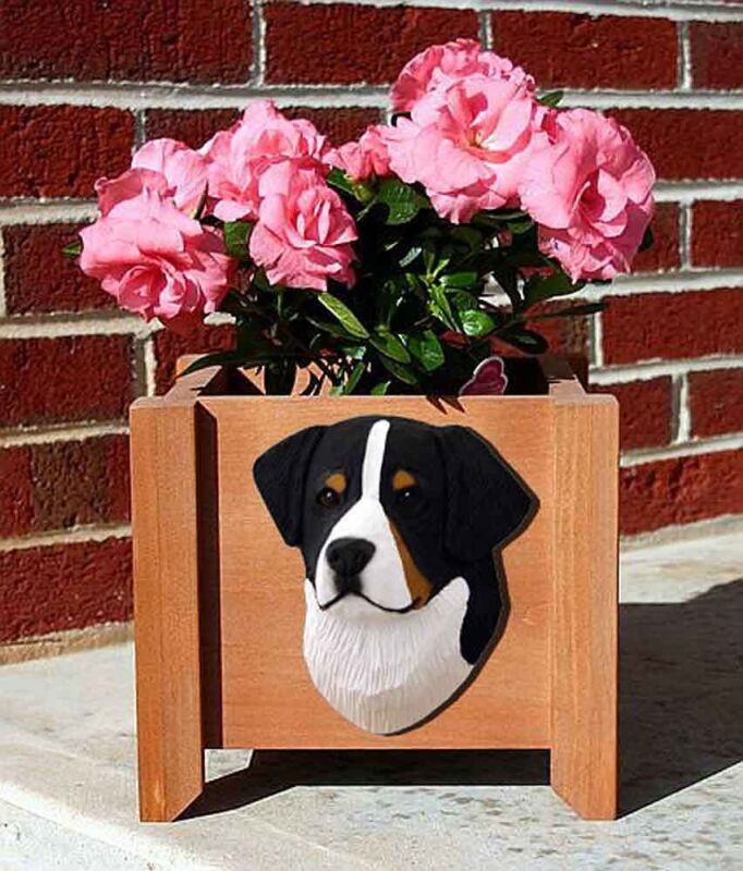Bernese Mountain Dog Planter Flower Pot
