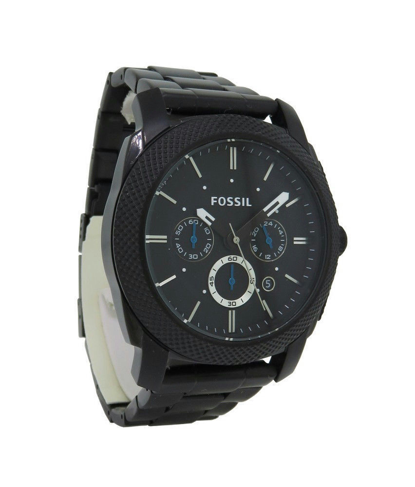 Fossil Pr5404 Mens Round Carbon Analog Chronograph Date Stainless Ch2600 Stock Photo