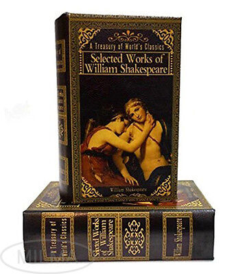 William Shakespeare Secret Storage Book Box Stash Box  Faux Leather Over Wood