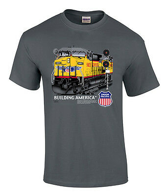 - Union Pacific Building America C44-9W Authentic Railroad T-Shirt [20005]