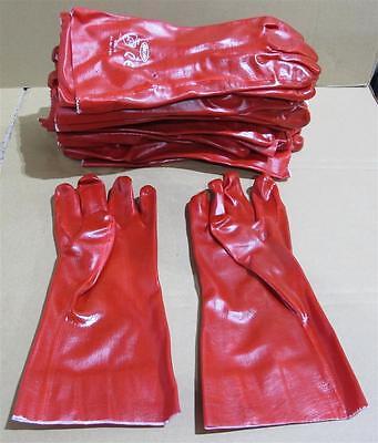 775: 12 x Chemikalien PVC Handschuh Gr. 10 L=350 mm Schutzhandschuh Top Qualität