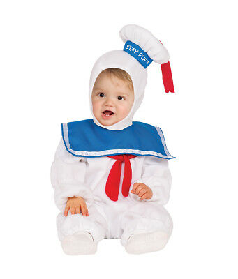 Toddler Stay Puft Marshmallow Man Costume (Toddler Stay Puft Marshmallow Man EZ On Romper)