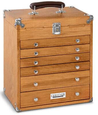 T16 Gerstner International 6 Drawer 14 Oakveneer Tool Chest Wgreen Felt Liner