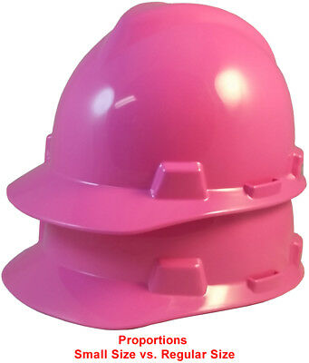 Msa Hot Pink Small Size 6-718 V-gard Cap Style Safety Hard Hat Ratchet Susp