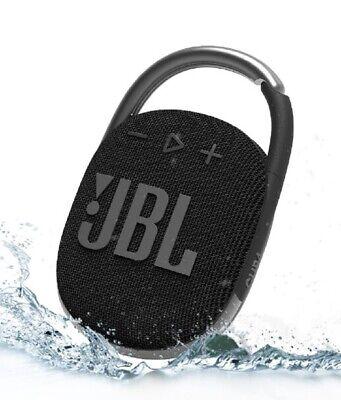 JBL Clip 4 schwarz Mobiler Lautsprecher Bluetooth Wasserfest Betriebszeit 10...