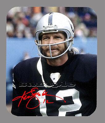 (Item#3998 Ken Stabler Oakland Raiders Facsimile Autographed Mouse Pad)
