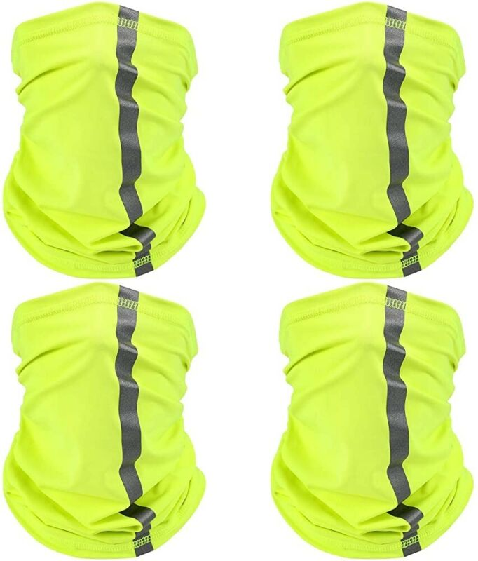 Face Mask Seamless High Visibility Neck Gaiter Safety Outdoor Construction 4 Pcs