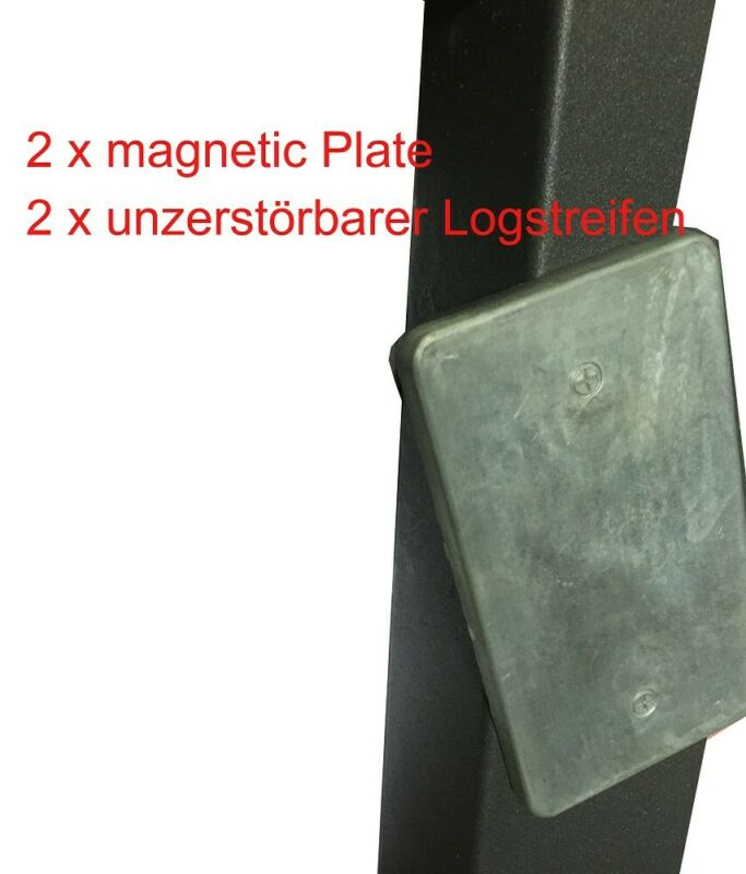 2 x Geocaching Versteck magnetisch D5 Metall Platte magnetic plate Geocache Abde