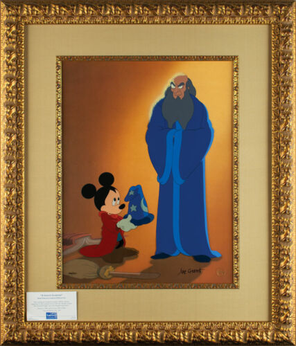 Fantasia Mickey Mouse & Yen Sid Disney limited edition Cel A Lesson Learned