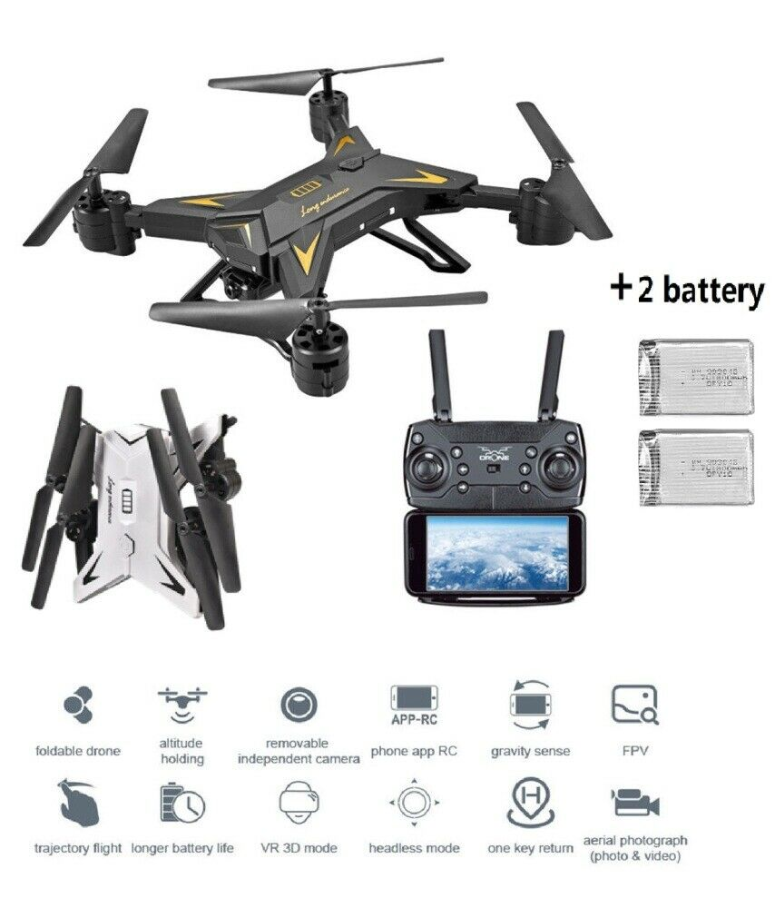 Faltbare Drohne mit Kamera 2.4GHZ WIFI FPV RC Quadcopter 1080P HD Video Drohne