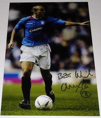 ALEX RAE RANGERS PERSONALLY HAND SIGNED AUTOGRAPH 12X8 PHOTO