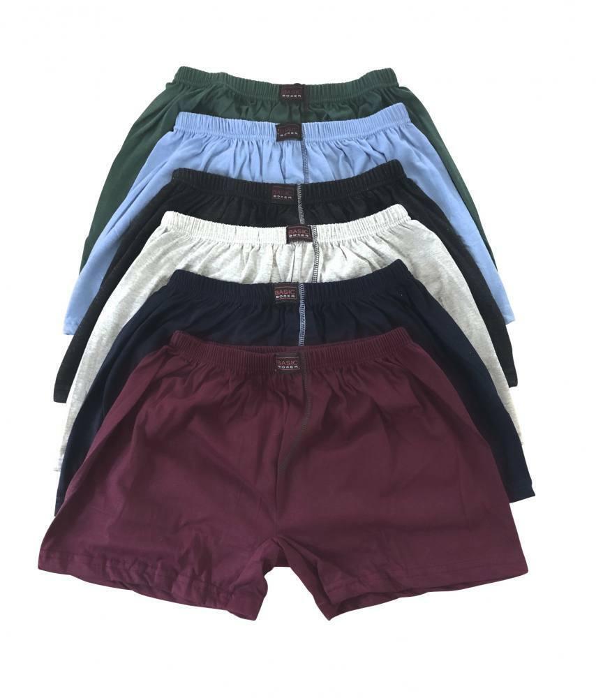 3 / 6 / 9 / 12 Stück Basic Herren Boxershorts Unterhosen mit Eingriff auch in  .