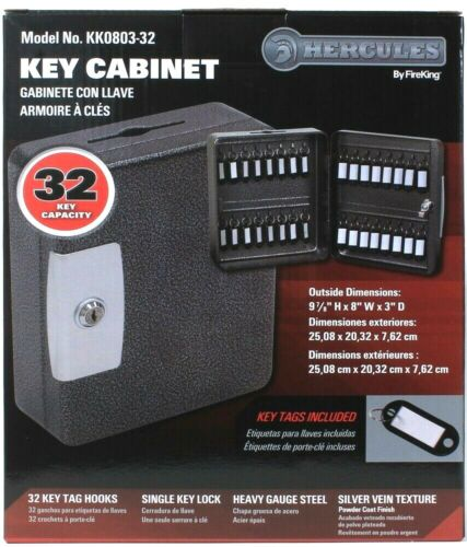 """Hercules By FireKing 9 7/8"""" H X 8"""" W X 3"""" D 32 Key Capacity KK0803-32 Cabinet"""