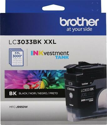 Brother Genuine LC3033BK, Single Pack Super High-Yield Black INKvestment 05/20+