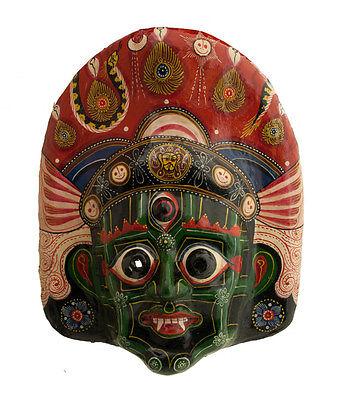 Mask Tribale Himalayan Ritual Nepalese Paper Mache Polychrome-Divinite-9792