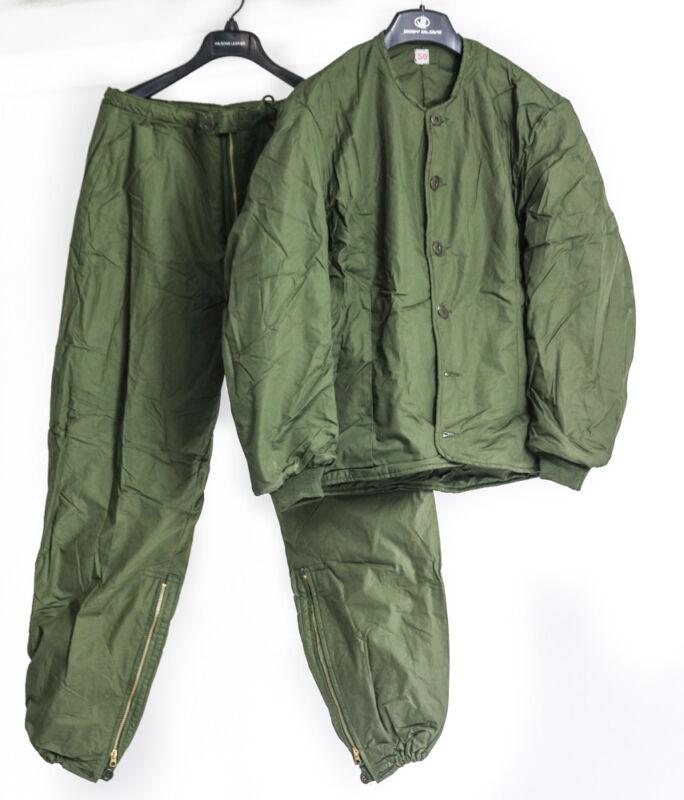 Swedish Large Groundcrew Set Insulated Jacket / Pants Underlayer Olive Drab NEW