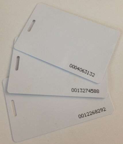 (15) Acroprint BioTouch and timeQplus Proximity RFID Badge Cards 14-0126-000