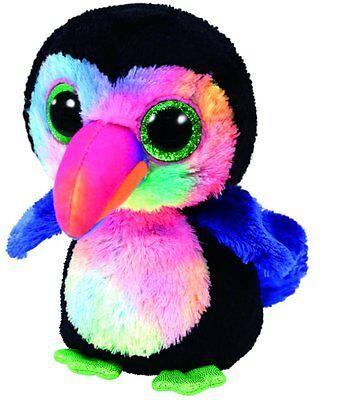 "Ty Beaks Toucan Bird Beanie Boos 6"" Plush Small (New) Stuffed Glitter Eye"