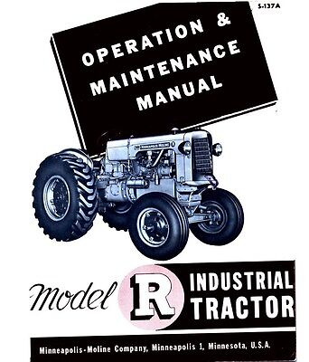 Minneapolis Moline R Rti Industrial Operators Manual