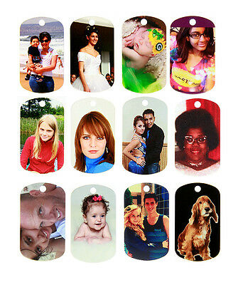 Double Sided Full Color Custom Personalized Photo Dog Tag Picture Pendant