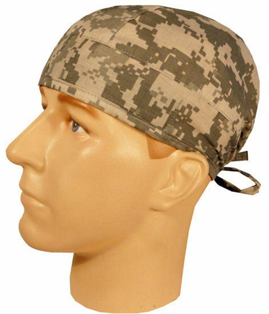 acu digital camo surgical sweatband scrub skull