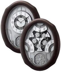 Glory Espresso Musical Motion Clock by Rhythm Clocks