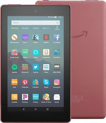 Amazon Fire 7 (9th Generation) 32GB, Wi-Fi, 7in - Plum (FIRE WITH ALEXA)