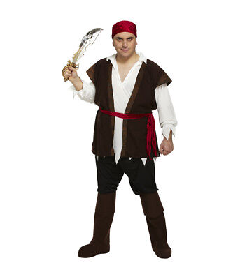 Pirate Karibik Man Halloween Kostüm Erwachsene Herren Requisit Jack Sparrow