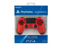 PS4 Dual Shock Controller - Magma Red. Brand New in Original Packaging.