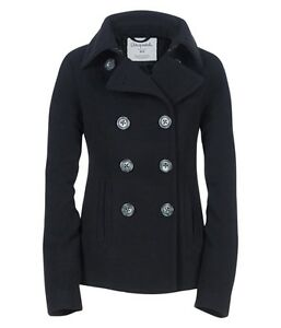NWT AEROPOSTALE Womens Aero Wool Solid Peacoat Coat Jacket ...