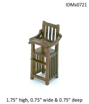 Heirloom High Chair - HIGH CHAIR WOOD 1:24 HALF SCALE DOLLHOUSE BABY MINIATURES Heirloom Collection