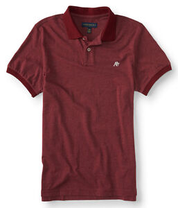 aeropostale mens a87 solid jersey polo shirt