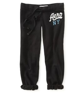 aeropostale womens aero ny heritage cinch capri sweat pants