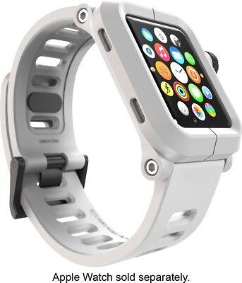 Polycarbonate Silicone (LUNATIK EPIK Polycarbonate Case + Silicone Band for Apple Watch 42mm - White)