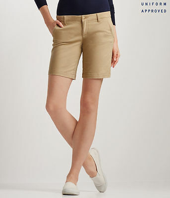 NEW Aeropostale Light Beige Khaki Bermuda Twill Shorts 9