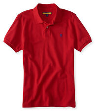 aeropostale mens prince & fox solid pique polo shirt