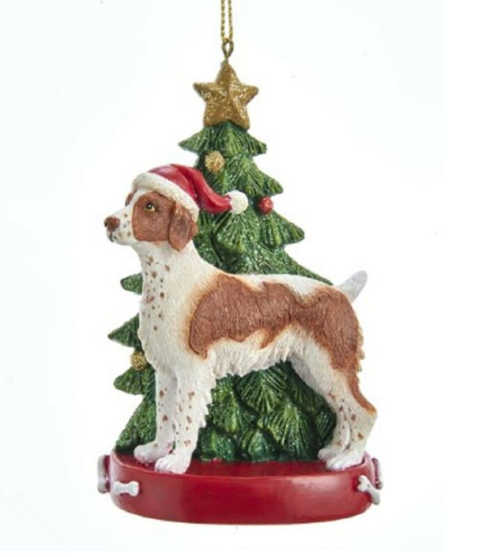 Brittany Spaniel Christmas Tree Ornament