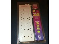MAINS EXTENSION LEAD - SURGE PROTECTED - 10 SOCKETS - NEW