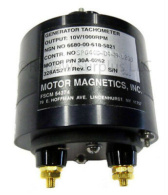 New Sealed Motor Magnetics Tachometer Generator 10v 1000 Rpm Ac 30a-0262