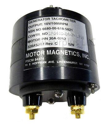 New Sealed Motor Magnetics Tachometer Generator 10v 1000 Rpm Ac 30a-0262