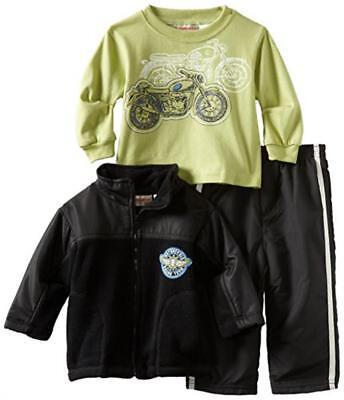 - Kids Headquarters Infant Boys Fleece Jacket 3pc Pant Set Size 12M 18M 24M $49.50