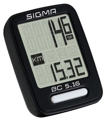 Sigma Fahrrad Tacho Fahrradcomputer mehrere Funktionen BC 5.16 kabelgebunden  online kaufen