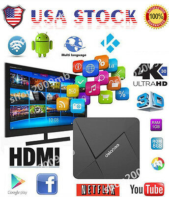 DOLAMEE D5 Smart TV BOX Android 5.1 4K HD 8GB Quad Core WiFi HDMI NEW