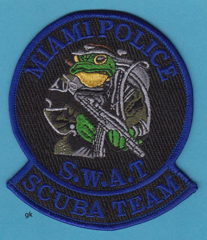 MIAMI FLORIDA SWAT POLICE SCUBA DIVE TEAM SHOULDER PATCH (BLUE)
