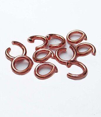 10 Biegeringe 3,3 mm 925 Silber rose vergoldet Schmuckzubehör Schmuck basteln