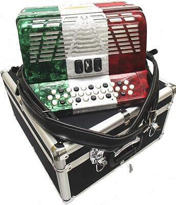 Bonetti Tex Mex 3-Switch Diatonic Button Accordion w/Case ADG 3412