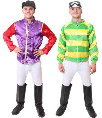 ADULT JOCKEY COSTUME MENS HORSE RACING FANCY DRESS - Horse Racing Kostüme